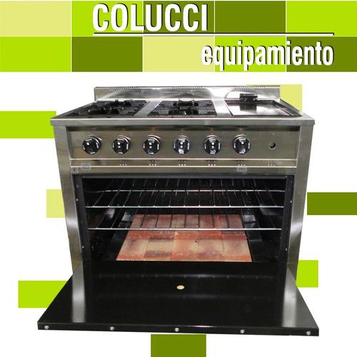 cocina industrial gastroequip 4 h + plancha 90 cm ahora 12
