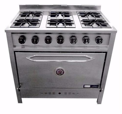 cocina industrial gastroequip 90 cm 6 hornallas