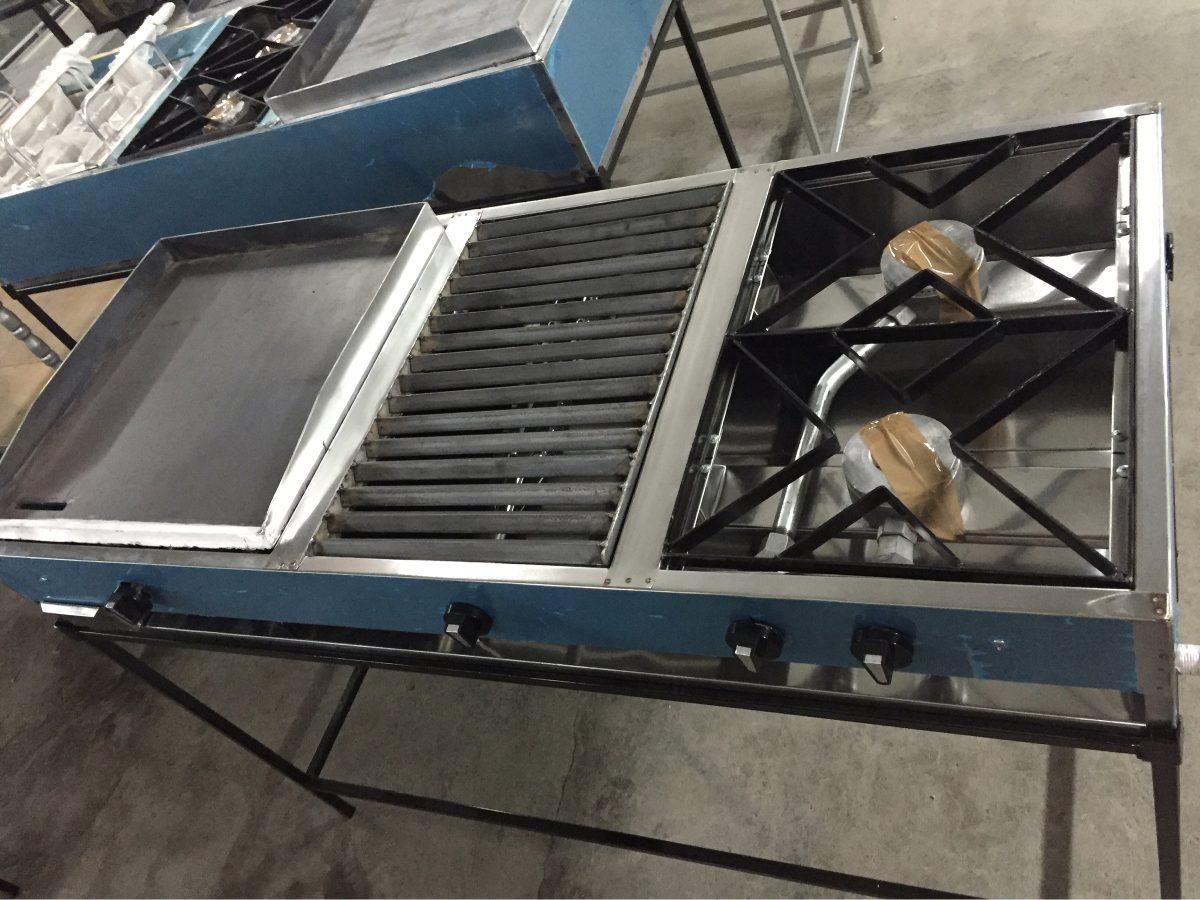 Cocina industrial plancha parrilla y dos quemadores a gas - Plancha de cocina industrial ...