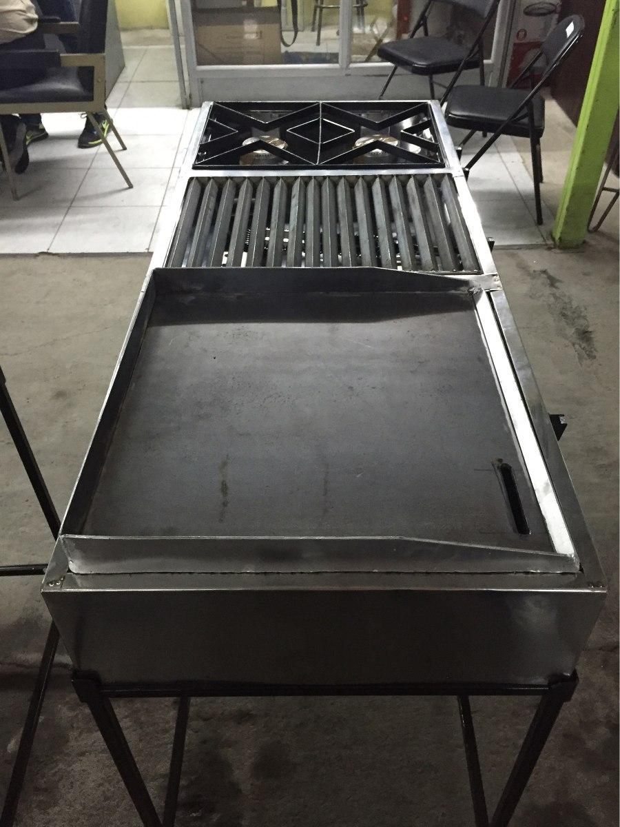 Cocina industrial plancha parrilla y dos quemadores a gas for Parrilla cocina industrial