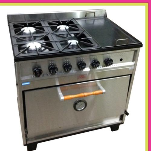 cocina industrial premium 4 h y plancha horno pizzero cuotas