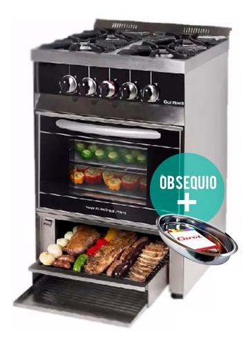 cocina industrial sol real 4 hornalla 58cm parrilla inferior