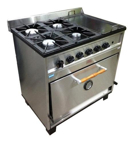 cocina industrial tecnocalor 4 h + plancha pizzero ahora 12