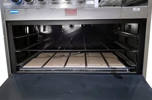 cocina industrial tecnocalor 4 h + plancha tostador 86 cm