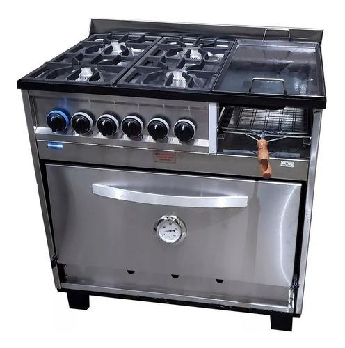 cocina industrial tecnocalor 4 hornallas plancha carlitero