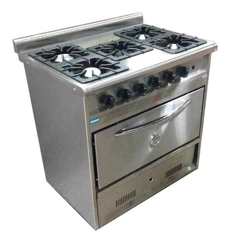 cocina industrial tecnocalor 5 h horno pizzero ac. inox