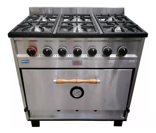 cocina industrial tecnocalor 6 h horno pizzero ac. inox