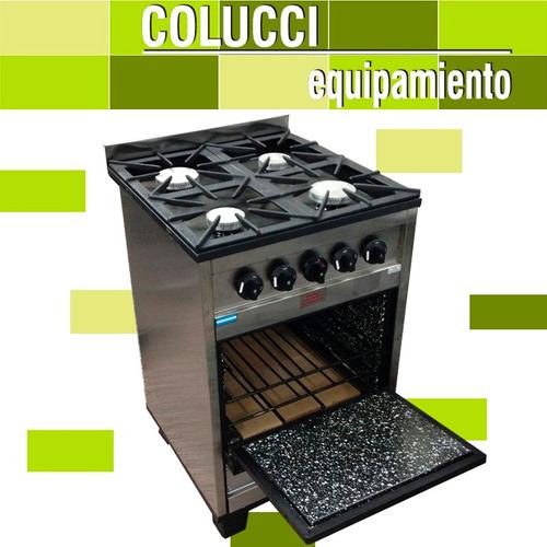 cocina industrial tecnocalor petit 4h 57 cm h. pizzero cuota
