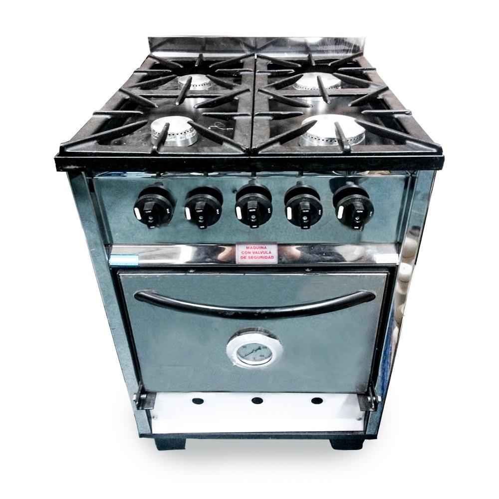 Cocina Industrial Tencnocalor 4 Hornallas 56cm Petit 7 298 00  # Muebles Petit San Cristobal