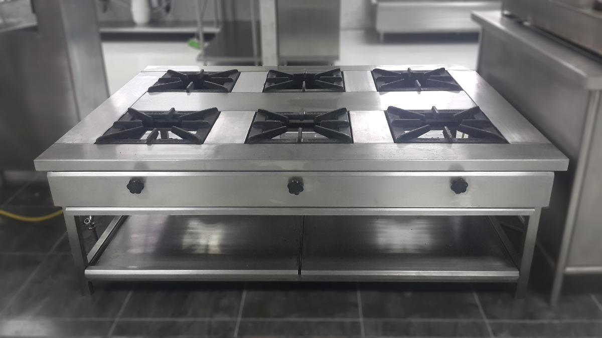 Cocina industrial tipo isla de acero inoxidable u s 1 for Cocina industrial hogar