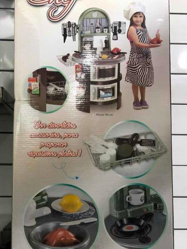 cocina infantil 100% cheff new plast july toys