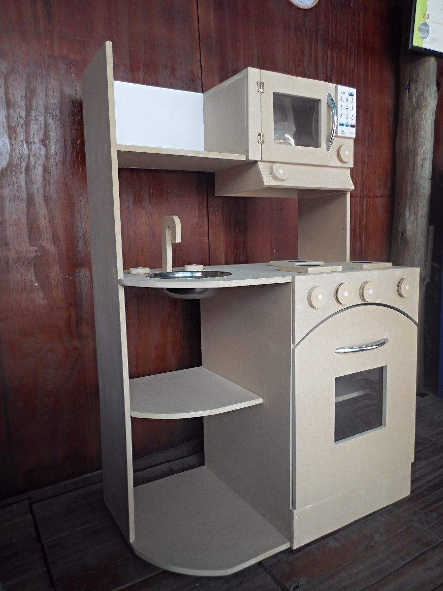 Cocina Infantil Cocinita De Juguete Casita Madera Didactico  # Muebles Infantiles Lupi Love