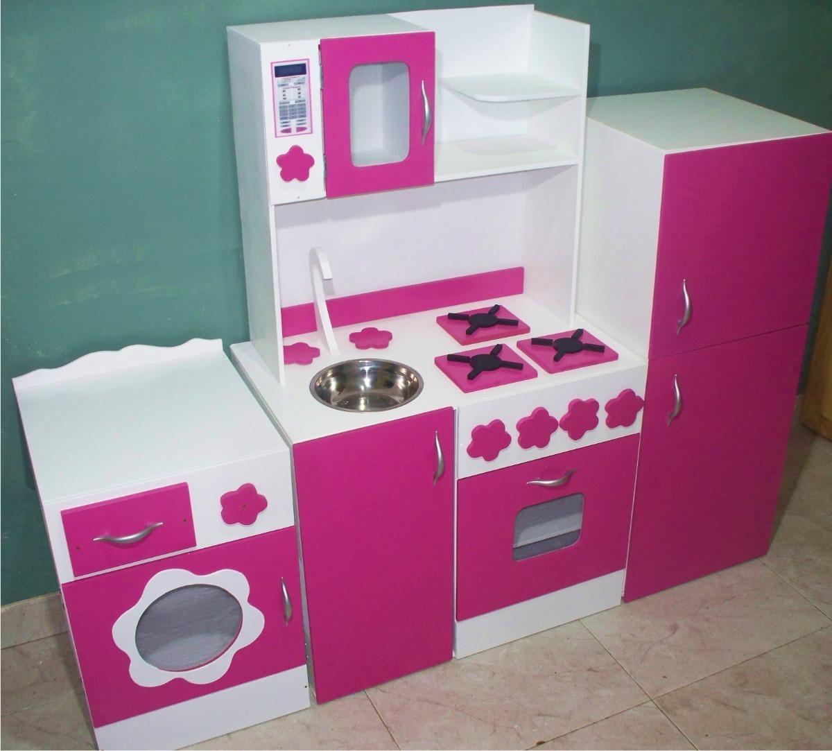 Cocina Infantil Cocinita De Juguete Madera Casitas Muebles Jardin Rincon Niñas Niños Juego Didactico