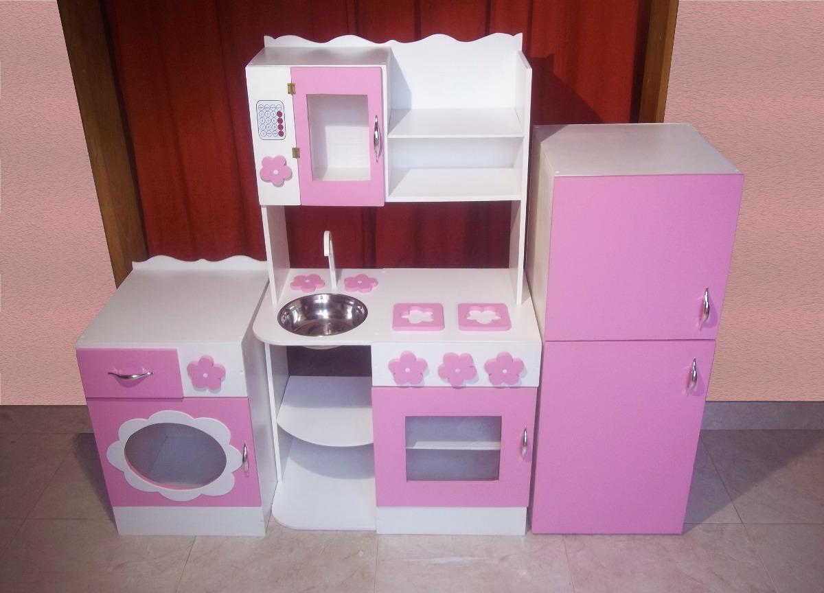 Muebles de madera infantiles recmaras infantiles mesa for Cocina de juguete
