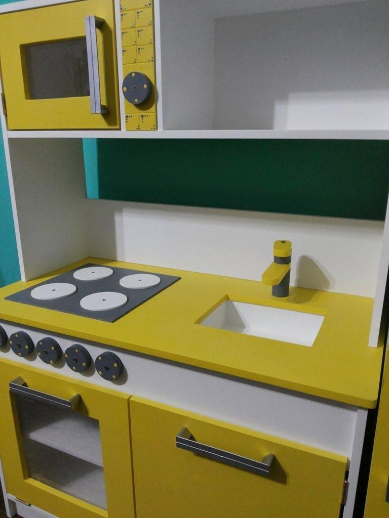 Cocina Infantil De Madera Mdf 12 Mm 3 100 00 En Mercado Libre