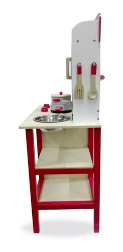 cocina infantil de madera para niños niñas