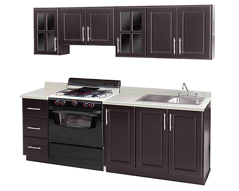 Cocina integral estilo contempor neo 5 piezas 240 x 64 y for Puertas cocina integral
