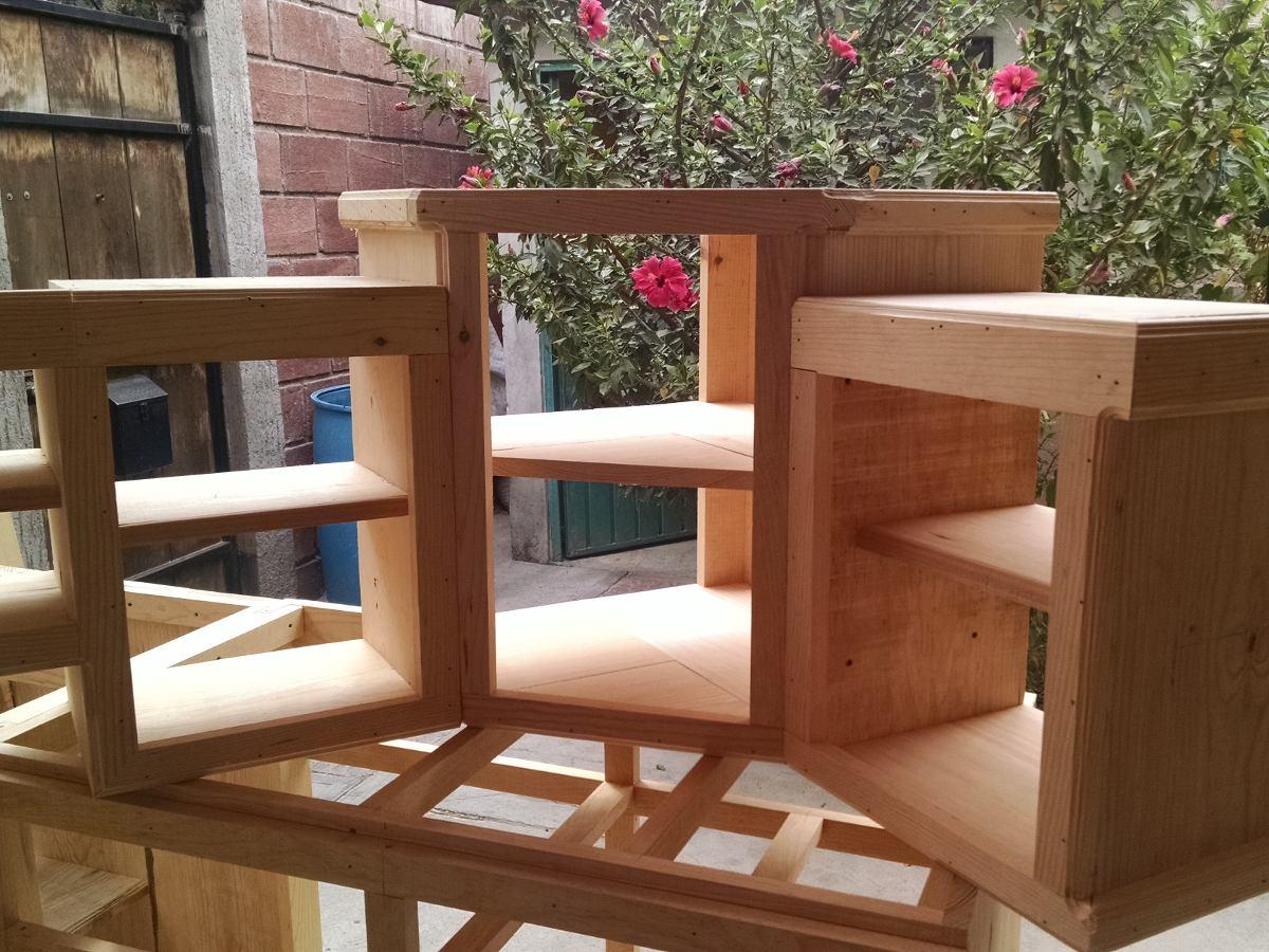Cocina integral madera escuadra dise o residencial a for Diseno de cocinas integrales online