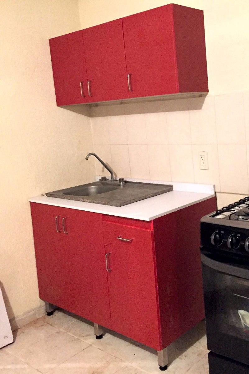 Cocina integral melamina mueble inferior y superior for Cocina integral