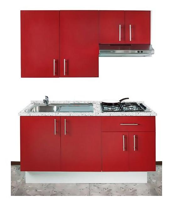 Cocina integral minimalista gabinete alacena for Muebles para cocina integral