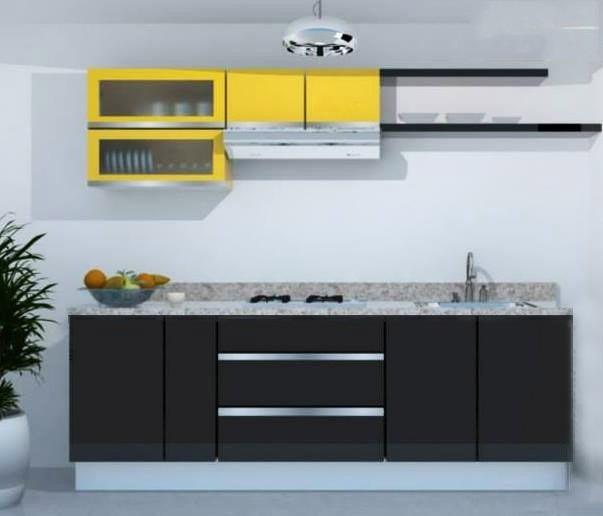 cocina integral minimalista m gabinete alacenas cubierta