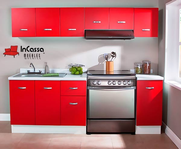 Cocina Integral Minimalista Gabinete Alacenas