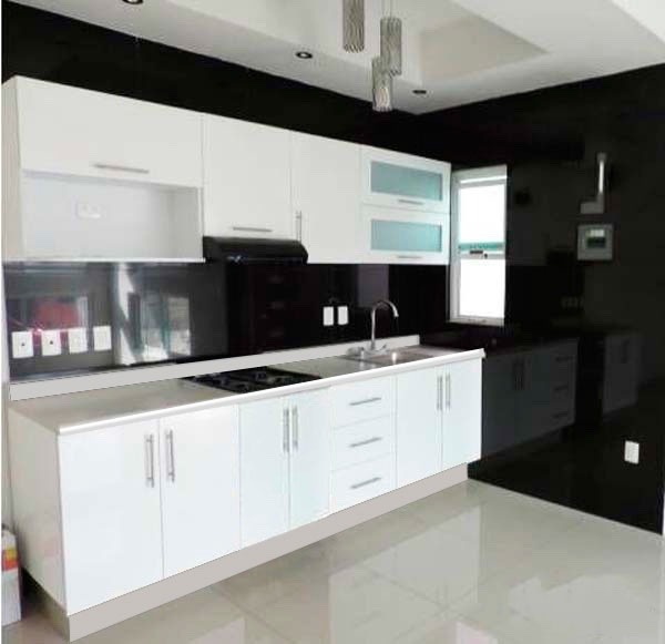 Cocina integral minimalista 3m gabinetes alacenas cubierta for Gabinetes cocina integral