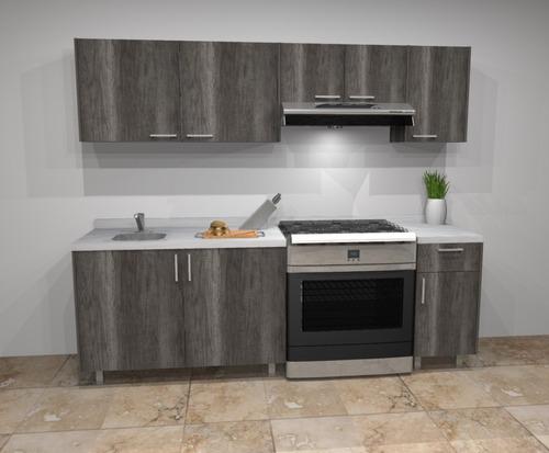 cocina integral moderna nueva de melamina con cubierta 2.40m
