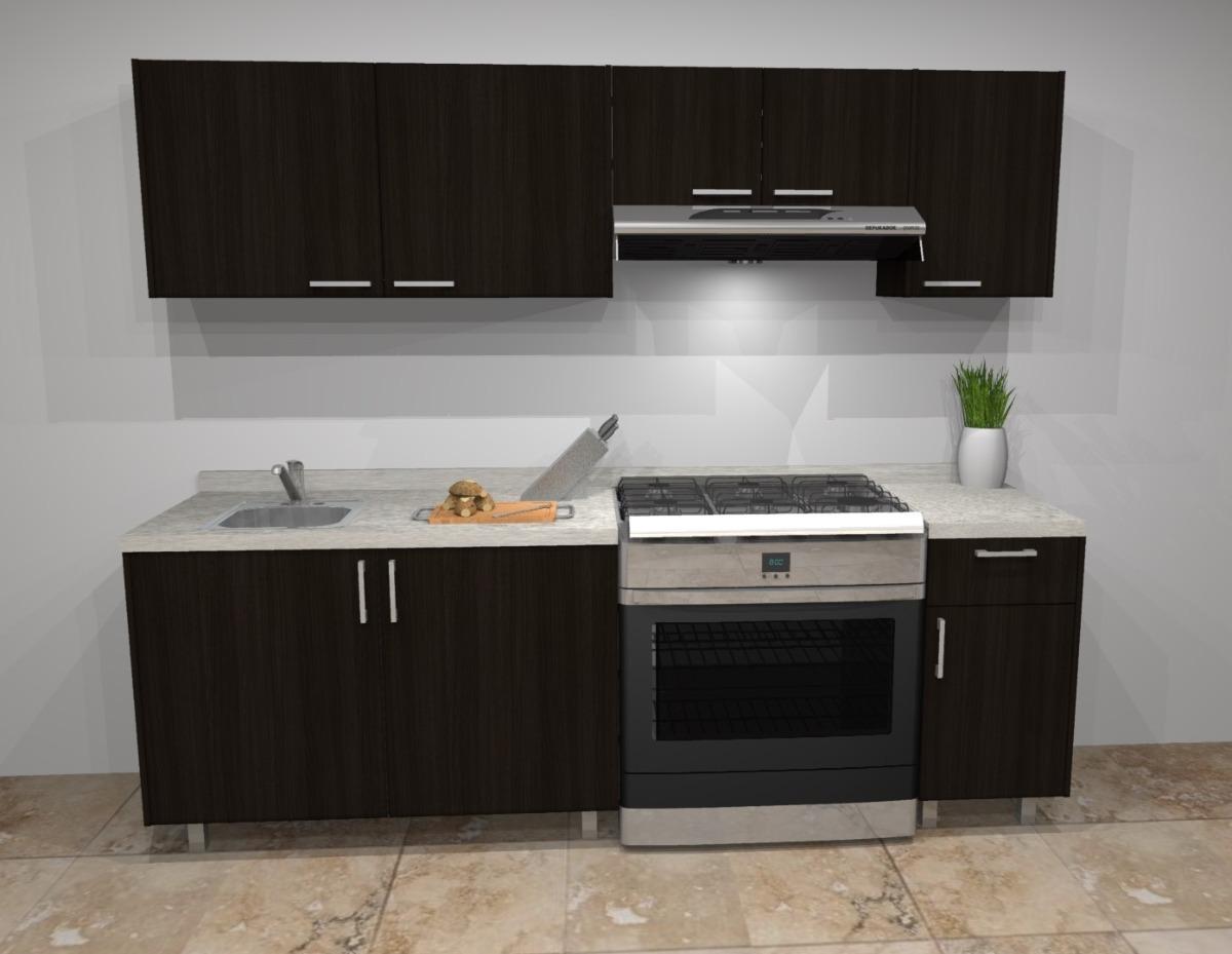 Cocina integral moderna nueva de melamina con cubierta 2 for Compra de cocinas integrales