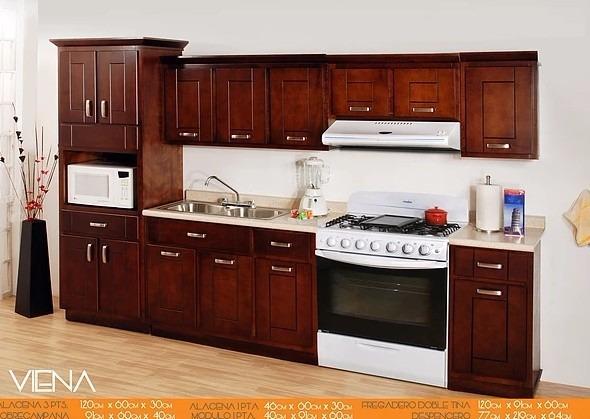 Cocina integral viena no incluye mueble para horno for Muebles de cocina para microondas