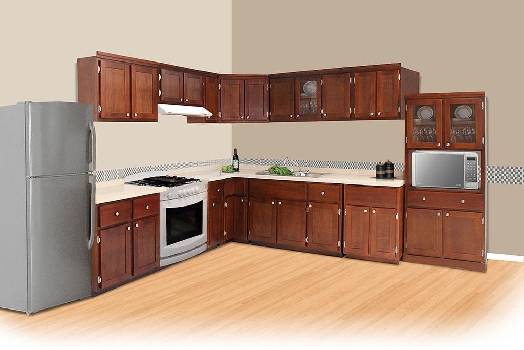 tarja doble fregadero para cocina integral madera granito