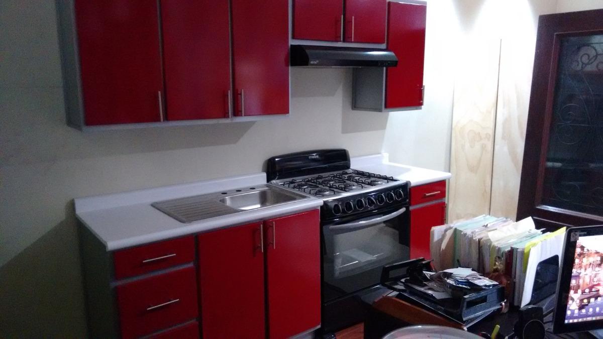 Cocina integral roja 8 en mercado libre for Como instalar una cocina integral pdf