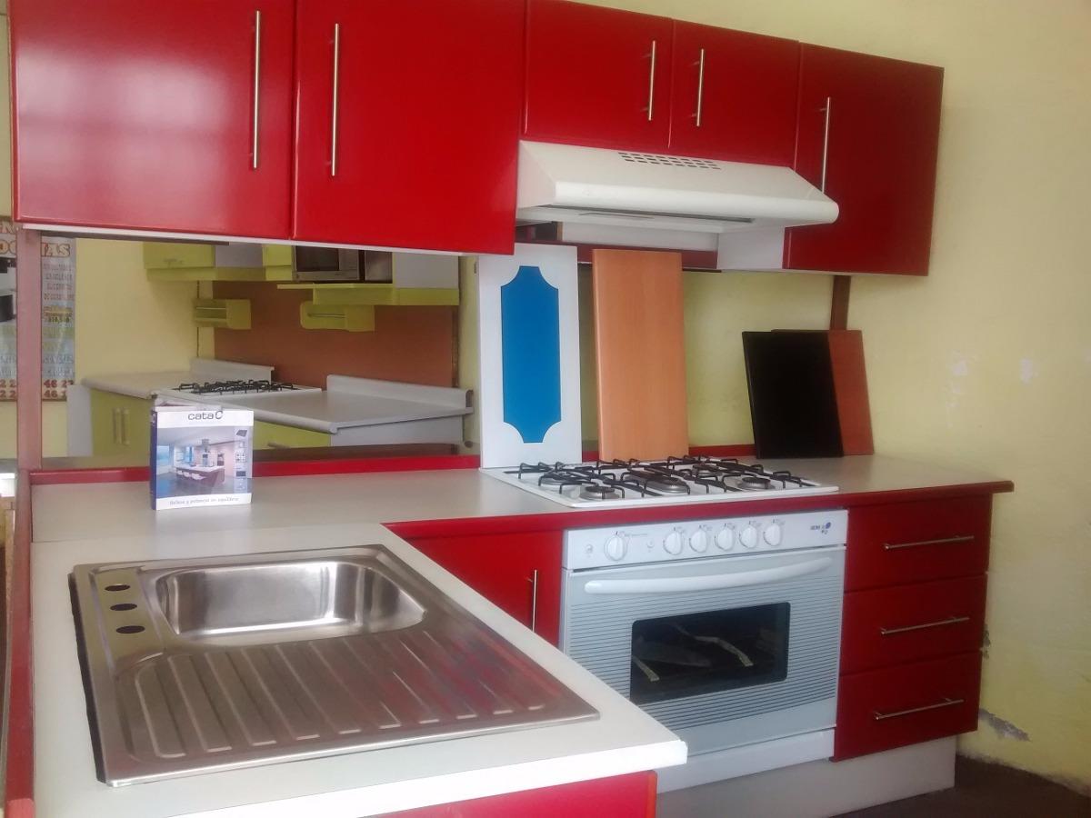 Cocina integral roja en escuadra 14 en mercado for Compra de cocinas integrales
