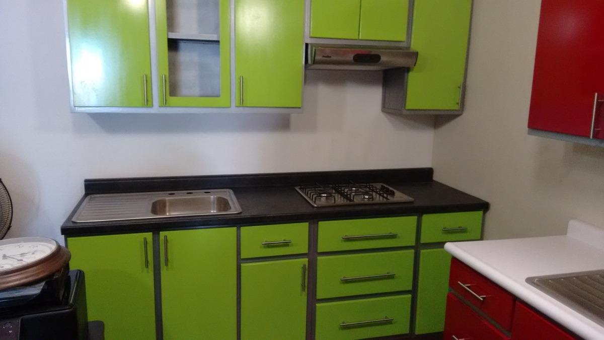 Cocina integral verde 10 en mercado libre for Gabinetes cocina integral