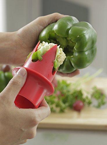 cocina iq pepper tool, rojo / verde