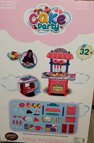 cocina juguete divertido postres fiesta torta de 32 piezas