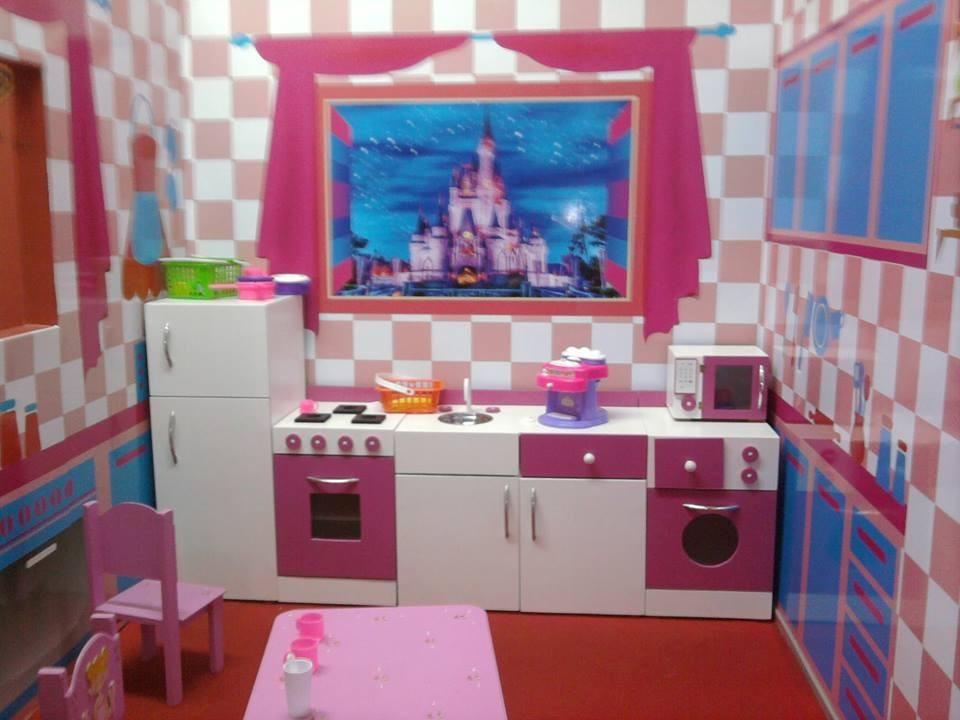 Juego De Muebles Cocina Infantil Juguete En Madera Casita 9 000