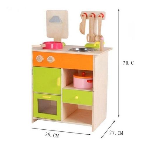 cocina juguete niña madera completa divina gh.equipamientos