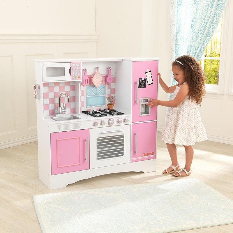 Cocina kidkraft cocinita de juguete para ni as rosa 2 en mercado libre - Cocina de juguete step 2 ...
