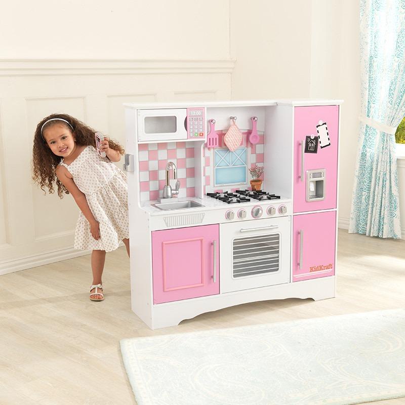 cocina kidkraft cocinita de juguete para nias rosa