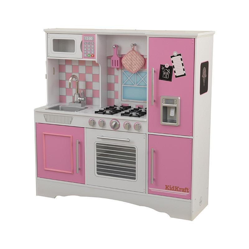 Cocina kidkraft cocinita de juguete para ni as rosa - Cocinas de juguetes de madera ...