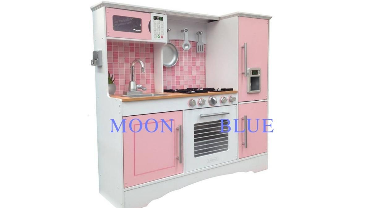Cocina kidkraft juguete madera color rosa ni os for Marcas de accesorios de cocina