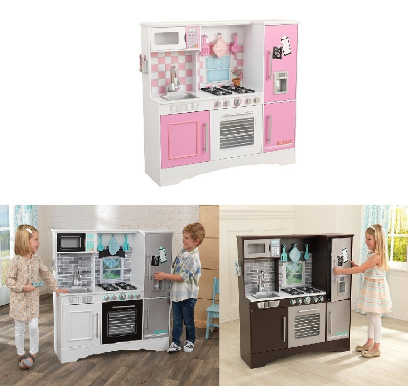 cocinas de madera para ninas cocina kidkraft juguete madera para ni a 3 colores a elegir 2 en mercado libre