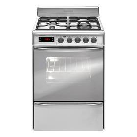 Cocina Longvie 21601x 4 Multigas Acero Inoxidable Puerta Visor 74l