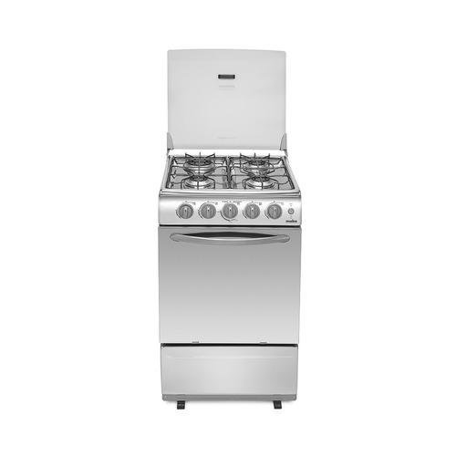 cocina mabe agas 4 hornillas en acero 51cm