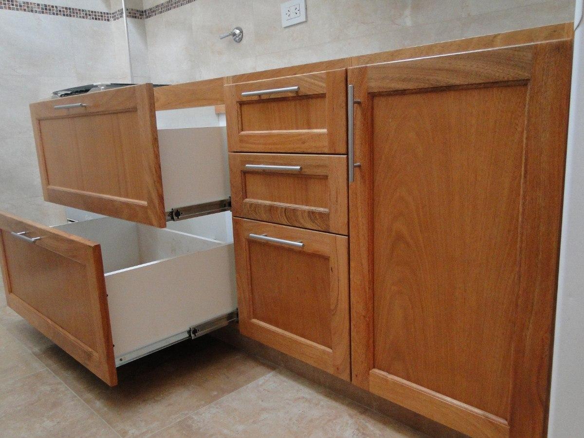 Muebles de cocina de madera maciza fabulous cocina madera for Muebles de cocina de madera
