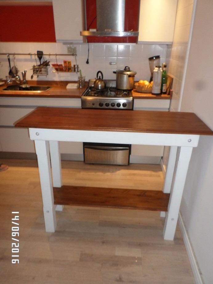 Desayunador   barra cocina en madera maciza.    3.900,00 en ...