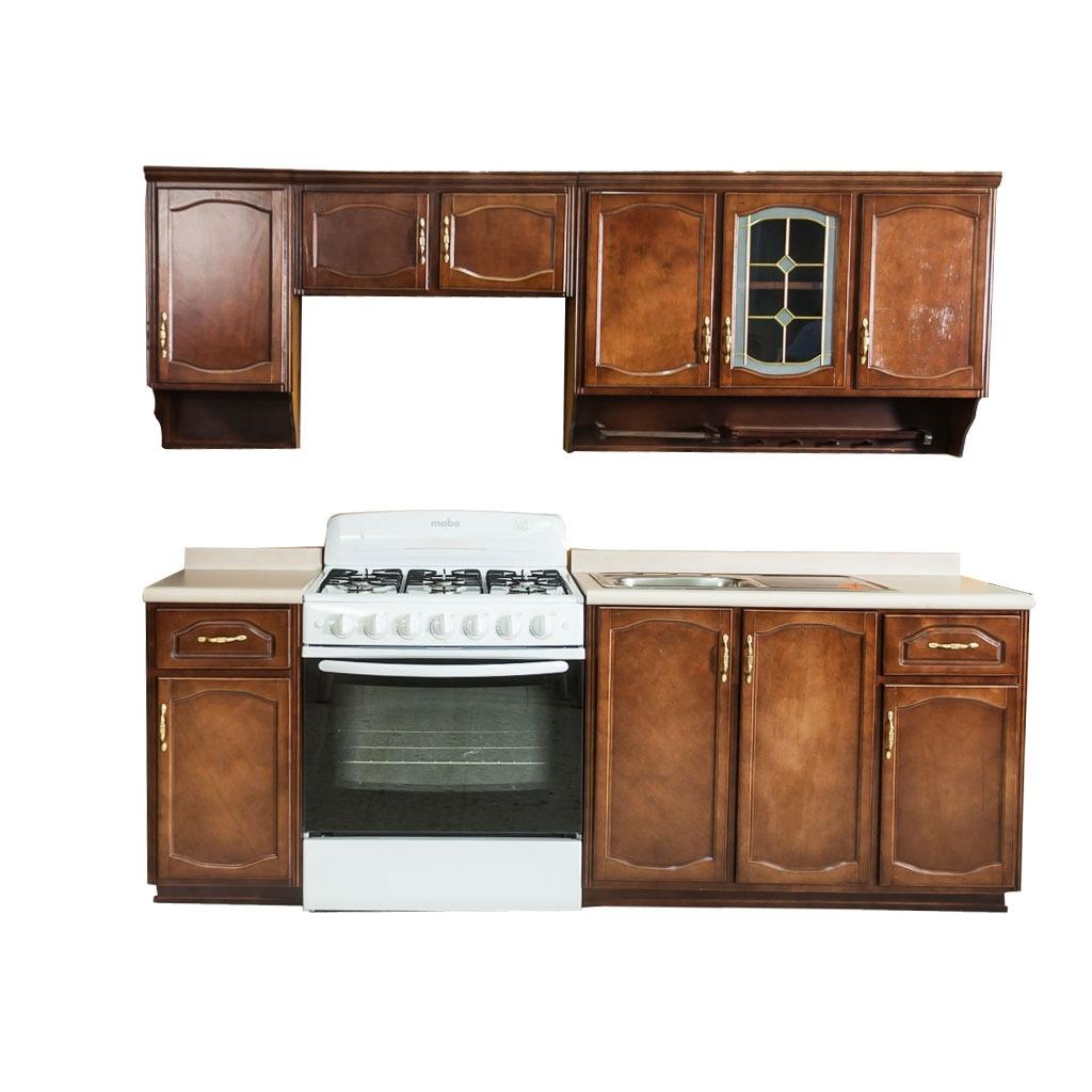 Cocina madrid estilo cl sico color nogal 9 en - Estilos de muebles de cocina ...