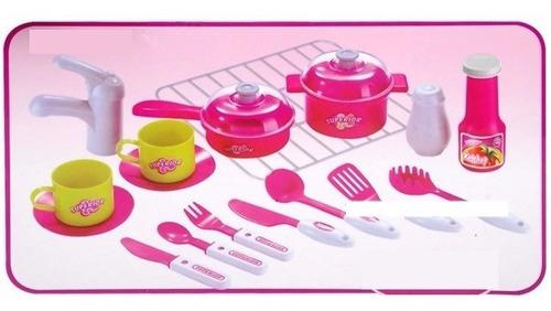 cocina maletin utensilios luz sonido niñas mas obsequio