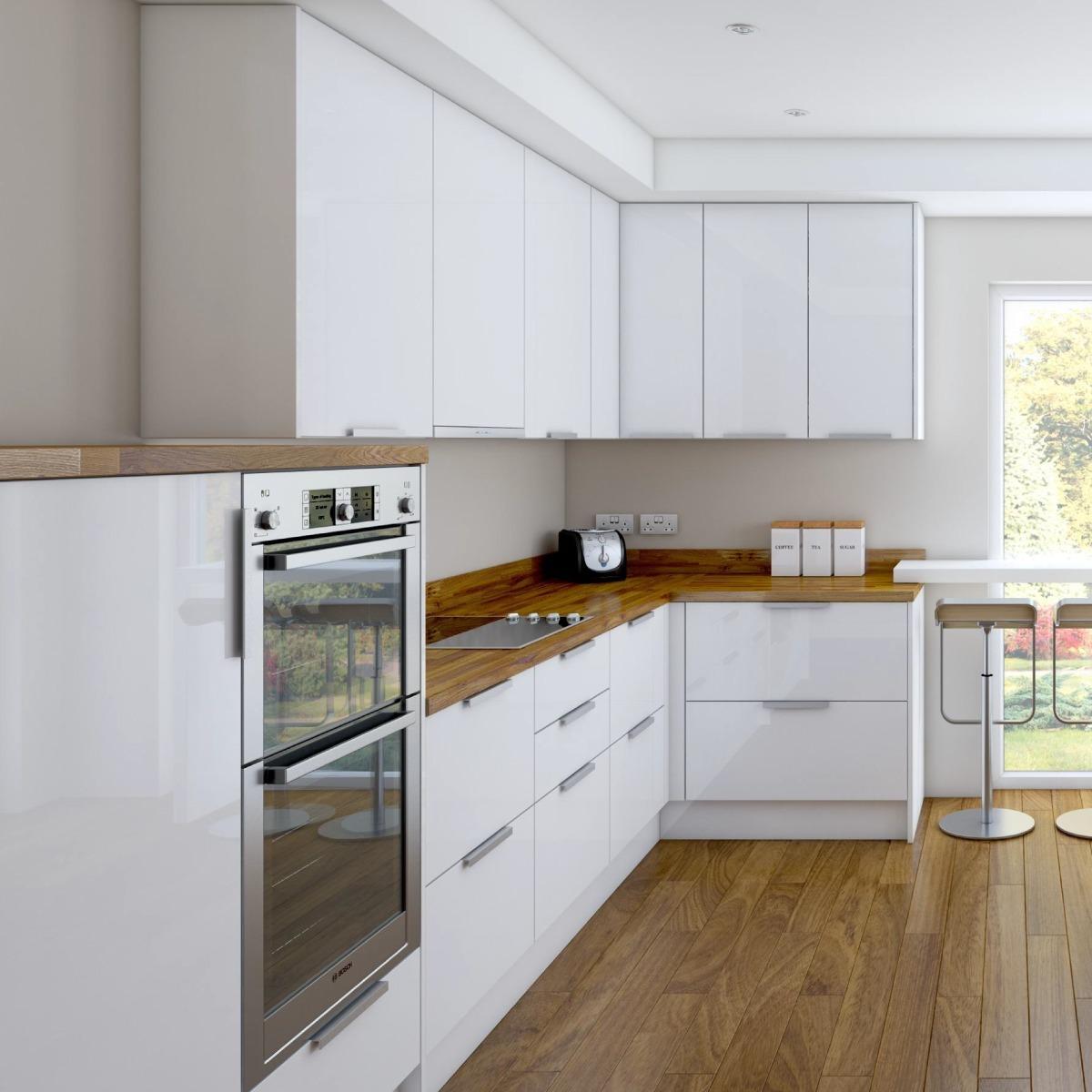 Cocina Minimalista / Muebles De Cocina / Diseño Italiano /m4